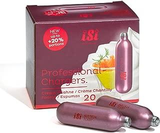 iSi North America iSi cartrdigeiSi Professional Chargers-Cartons of 20-8.4 Gram Nitrous Cream Propellent (20)