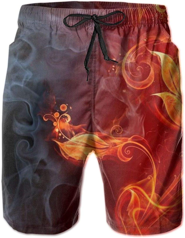 Yt92Pl@00 Mens 100% Polyester fire Casual Sw Ranking TOP14 Swim Popular popular Trunks Flower