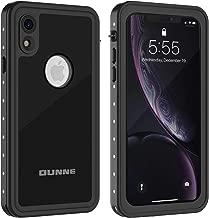 OUNNE iPhone XR Waterproof Case, Full Sealed Underwater Cover IP68 Certified Dustproof Snowproof Shockproof Waterproof Phone Case for iPhone XR (Black)