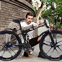 Celendi 【USA in Stock】 26 inch Mountain Bike Full Suspension 21 Speed Bike Non-Slip Bike for Adults Sport Wheels Disc Brak...