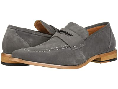 Stacy Adams Colfax Moc-Toe Slip-On Penny Loafer (Gray Suede) Men