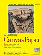 "Strathmore 300 Series Canvas Pa, 9""x12"" Glue Bound, 10 Sheets"