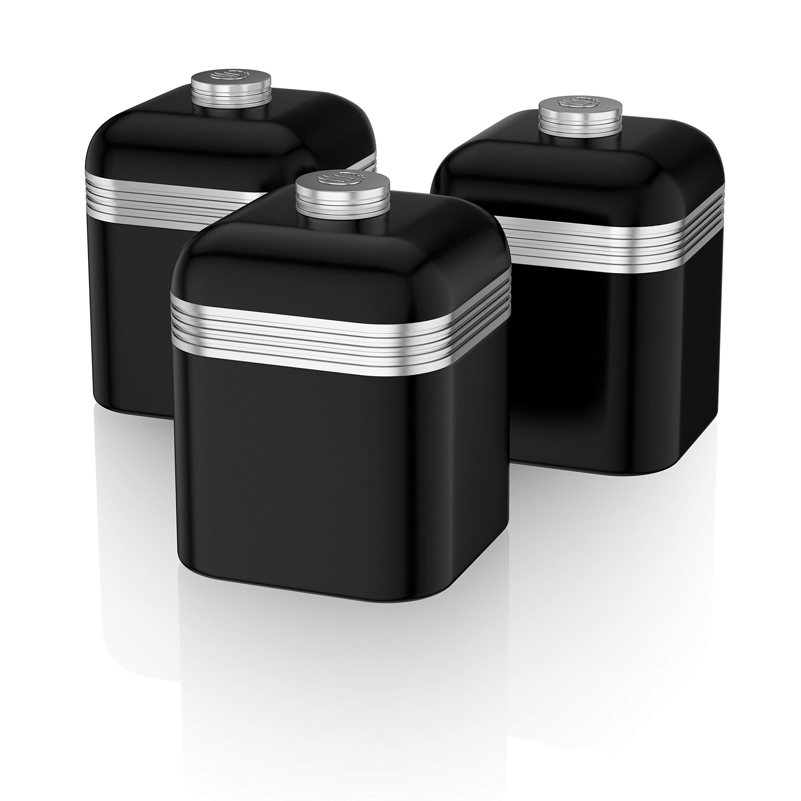 black kitchen canisters amazon co uk rh amazon co uk  black canisters for kitchen for sale
