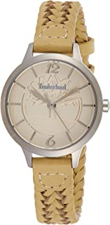 Timberland Women's Silver Dial Leather Band Watch - Tbl15265Ls-14, Analog Display, Quartz Movement