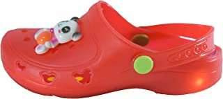 Yellow Bee Boys LED Clogs for Boys, Red