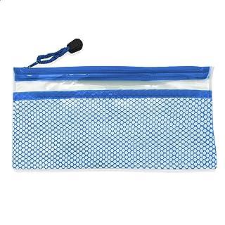EUROXANTY Transparant, waterdicht etui, meerdere opbergvakken, ritssluiting, 12 x 24 cm, blauw
