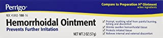 Hemorrhoidal Pain Relief Ointment Generic For Preparation H 2 oz (57g) Per Tube Pack of 3 Tubes Total 6 oz