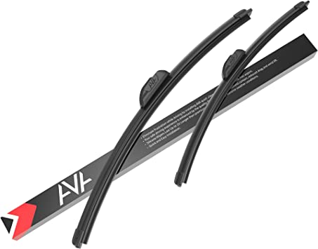 AVA 21''+18'' Silicone Windscreen Wipers, All-Weather, Water-Repellent, Quiet and Long-Lasting (Pack of 2): image