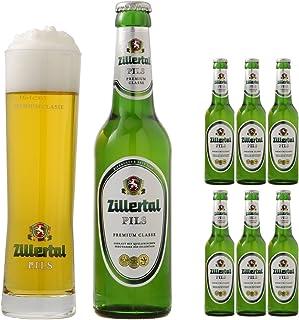 【乾杯セット】 ツィラタール ピルス プレミアムクラス ピルスナー ビール 330ml ボトル 6本 + 専用グラス 2個 セット