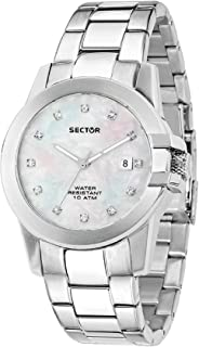 Women's 480 Analog-Quartz Stainless-Steel Strap, Silver, 18 Casual Watch (Model: R3253597501)