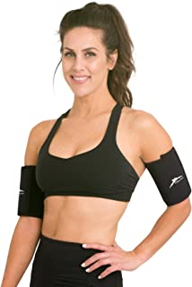 Delfin Spa Heat Maximizing Neoprene Adjustable Armbands (Pair) for Women & Men, Black, One-Size