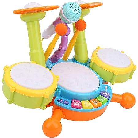 Weiyiroty Tambor Infantil Instrumentos Musicales Eléctricos ...