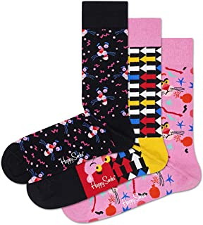 Happy Socks Unisex Pink Panther Gift Box Set (Set of 3 Pairs)