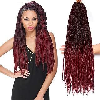 Best box braids with burgundy Reviews