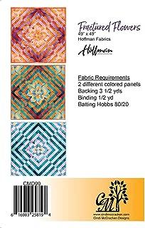 Pattern,Fractured Flowers~Using Dream Big Panel by Hoffman,Cindi McCracken Designs