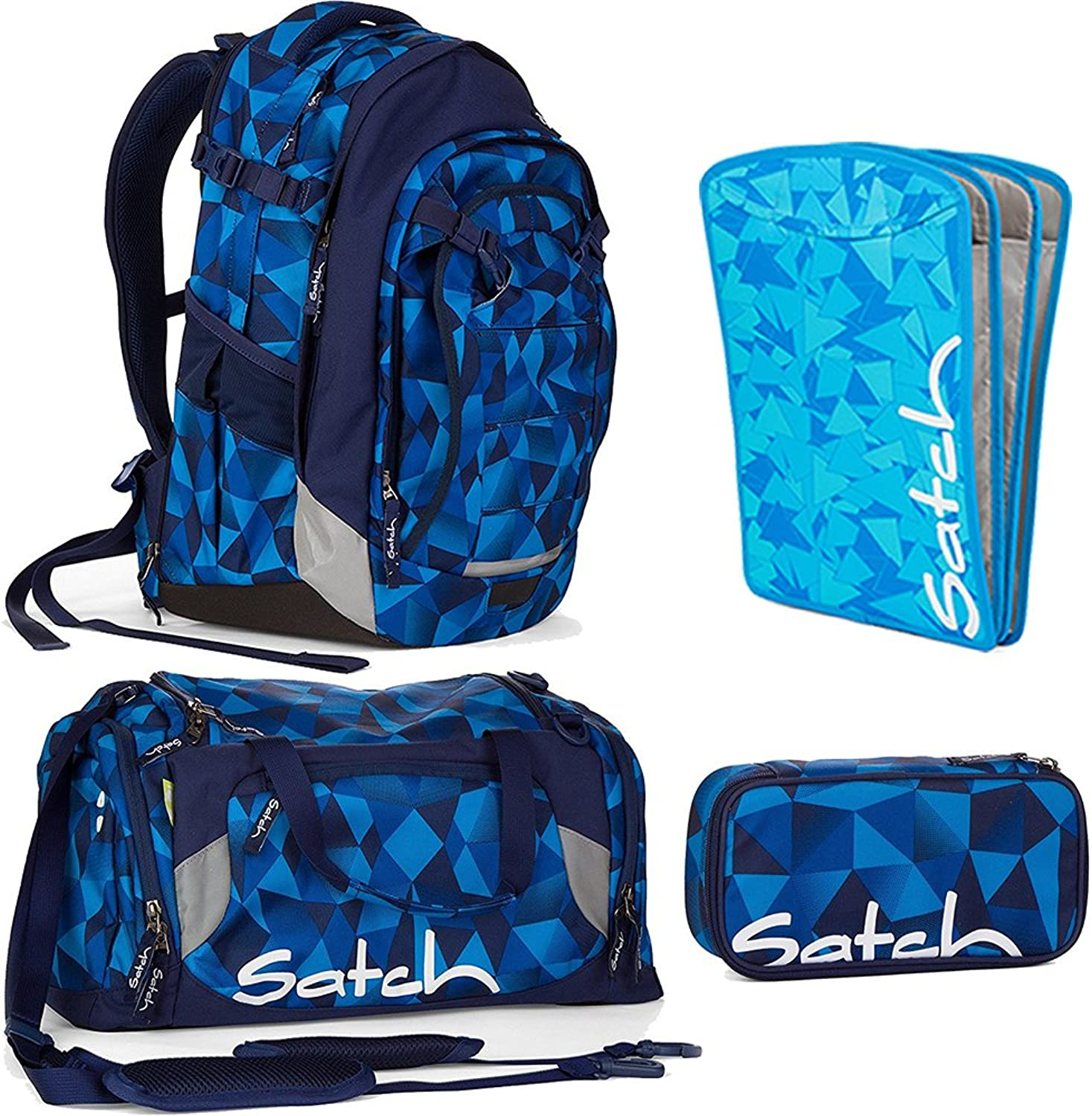 caeb70a63f22c Satch Match by Ergobag Blau Crush 4-teiliges Set Rucksack