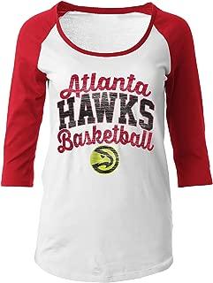 NBA Women's 100% Cotton Baby Jersey 3/4 Sleeve Scoop Neck Tee