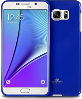 Goospery Pearl Jelly for Samsung Galaxy Note 5 Case (2015) Slim Thin Rubber Case (Navy Blue) NT5-JEL-NVY