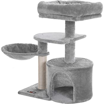 FEANDREA Cat Tree, Small Cat Tower, Condo, Scratching Post
