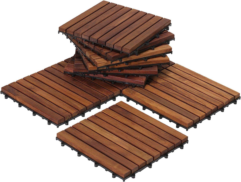 Bare Decor 10-Pack EZ-Floor Interlocking Flooring Tiles $83  Coupon
