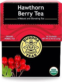 Organic Hawthorn Berry Tea – 18 Bleach-Free Tea Bags – Caffeine-Free Tea with an Herbal Flavor and Digestion Aiding Properties, Kosher, GMO-Free
