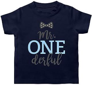 Shirtracer Geburtstag Baby - Mr. One Derful Schleife - Baby T-Shirt Kurzarm