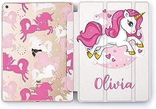 Wonder Wild Pink Unicorn Apple iPad Pro Case 9.7 11 inch Mini 1 2 3 4 Air 2 10.5 12.9 2018 2017 Design 5th 6th Gen Clear Smart Hard Cover Personalized Girly Kids Glitter Bright Cute Cartoon Narwhal