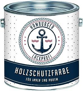 Holzschutzfarbe Farblos Wetterschutzfarbe Aussen klar // Hamburger Lack-Profi 2,5 L