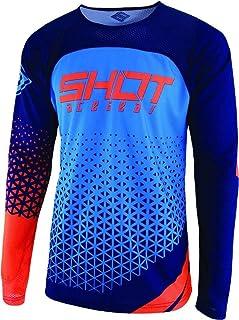SHOT Aerolite Delta Jersey - Blue/Neon Orange, Size XL