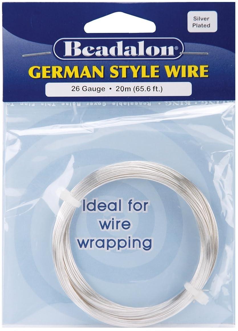 Beadalon German Style Wire-Silver Round - 26 Gauge, 65.5'