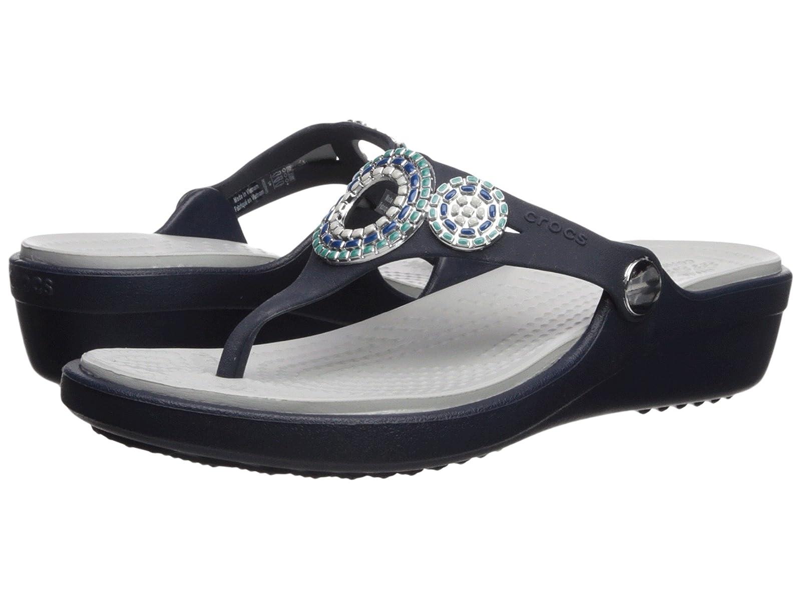 Crocs Sanrah Diamante Wedge FlipComfortable and distinctive shoes
