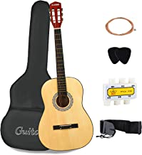 LAGRIMA Acoustic Guitar with Guitar Case, Strap, Tuner, Capo & Pick Steel Strings for beginners/adults/kids (38