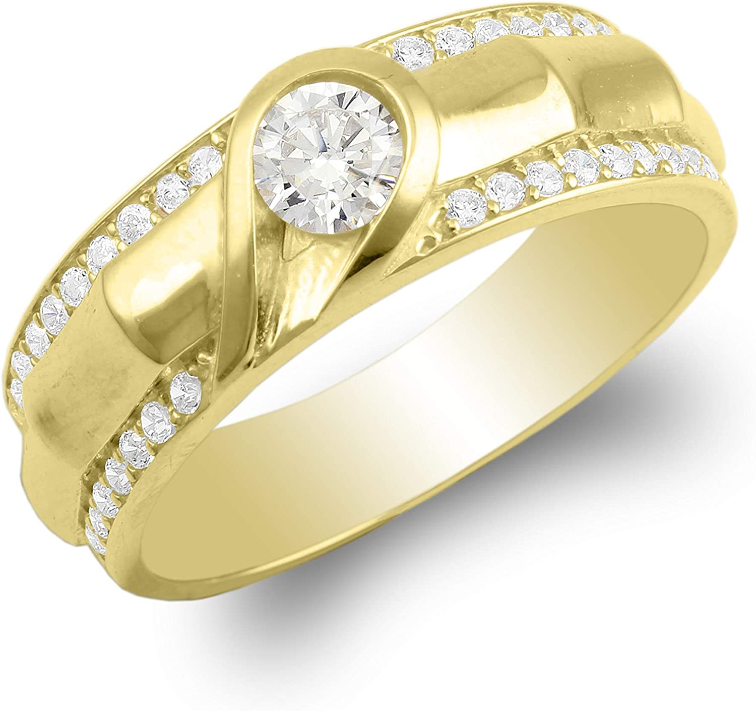 925 New mail order Sterling Silver Yellow Gold Plated Mens Outstanding Heart De Unique Half