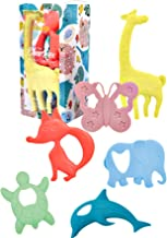 The Evolved Parent Co ChewBox Animal Edition Silicone Baby Teethers | Set of 6 | Multi-Texture Design