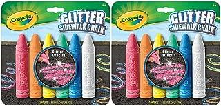 Crayola 6 Count Glitter Sidewalk Chalk, 2-Pack