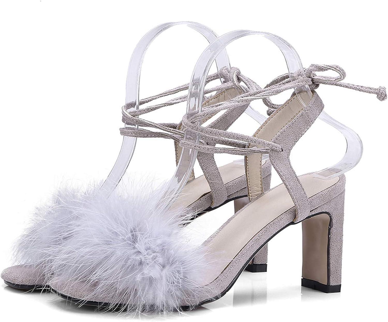 Zalin Summer Sandals Women Party shoes Square Heels lace up Sexy Fanshion Hoe Sale Women shoes