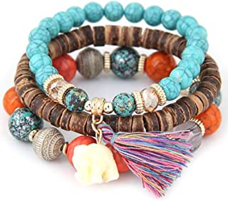 Alisena Women Vintage Style Love Infinity Friendship Multilayer Synthetic Leather Braided Bracelet 9 colors