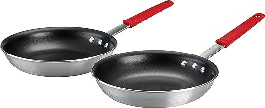 """Tramontina Aluminum Nonstick Restaurant Professional 2-Piece 10"""" Fry Pan Set, Satin"""