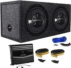 Package: Kenwood P-W1220 Package of: Kenwood KAC-5206 400W Peak/120W RMS 2-Channel Car Amplifier + 2)KFC-W112S 12