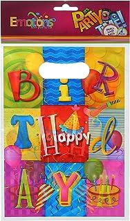 شنطة هدايا بطبعة اشكال عيد ميلاد من ايموشنز - 8 قطع