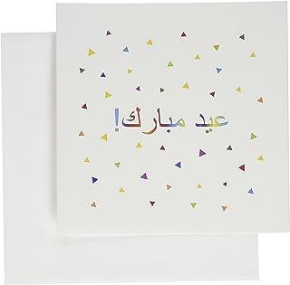 "3dRose Eid Mubarak in Arabic Happy Eid Blessing - Greeting Cards, 6 x 6"", Set of 6 (gc_202079_1)"