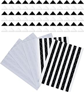 Hotop 510 Pieces Photo Corners Self Adhesive (Black and Clear)