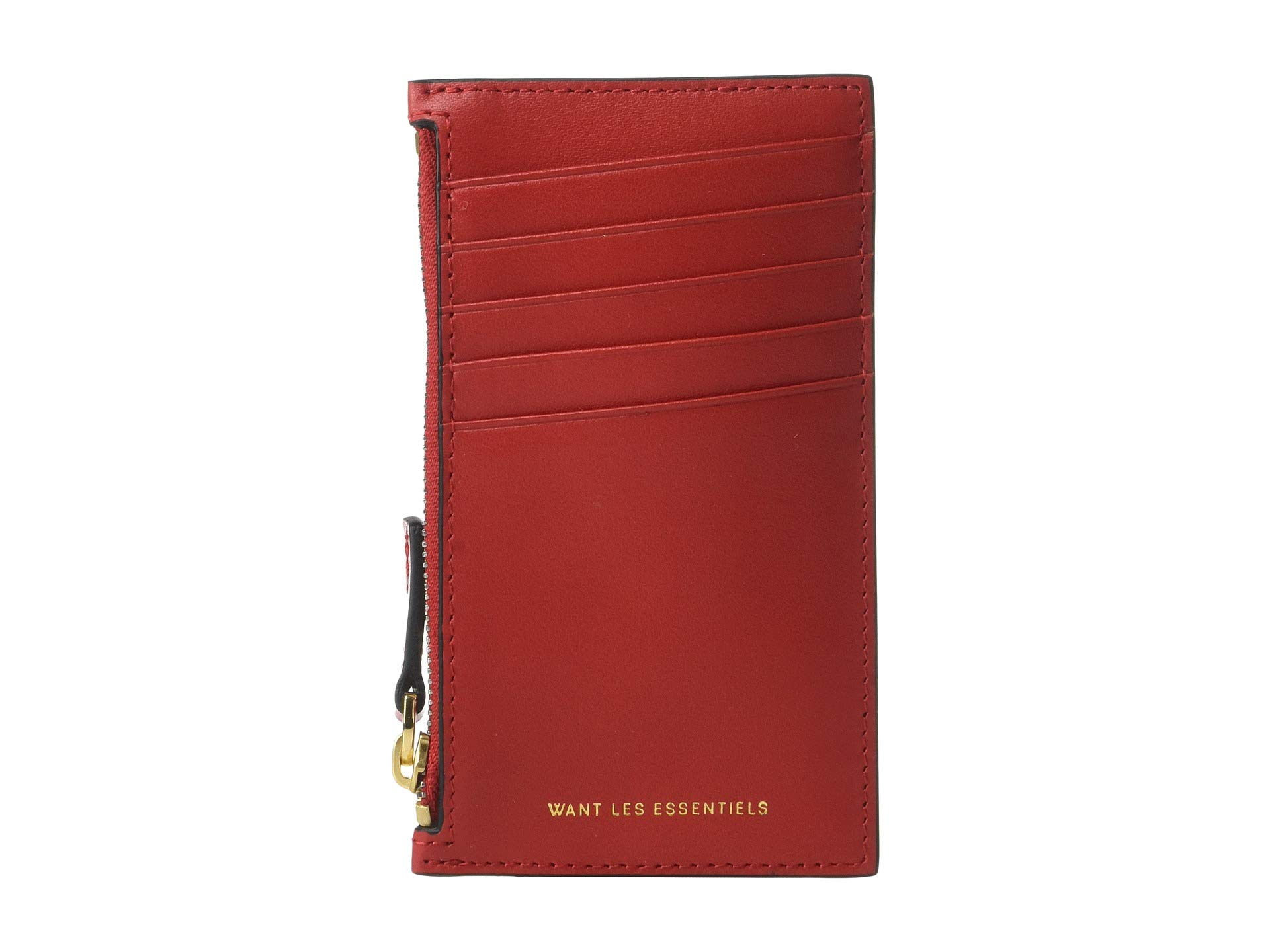 Zipped Essentiels True Les Holder Red Want Adana Card tZAawq