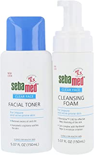 Sebamed Clear Face Cleansing Foam (150mL with Pump) and Clear Face Facial Toner (150mL) for Impure and Acne-Prone Skin Value Pack Set