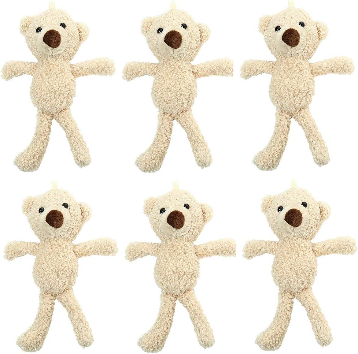 CheeseandU Max 42% OFF 6Pack 20cm Teddy Bear Animal Plush Doll Toys Stuffed Same day shipping