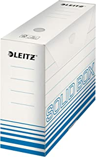 Esselte Leitz Boîte à archives Solid, 100 mm, carton ondulé bleu clair