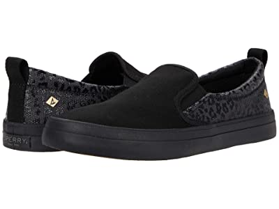 Sperry Crest Twin Gore Animal Print (Black/Black) Women