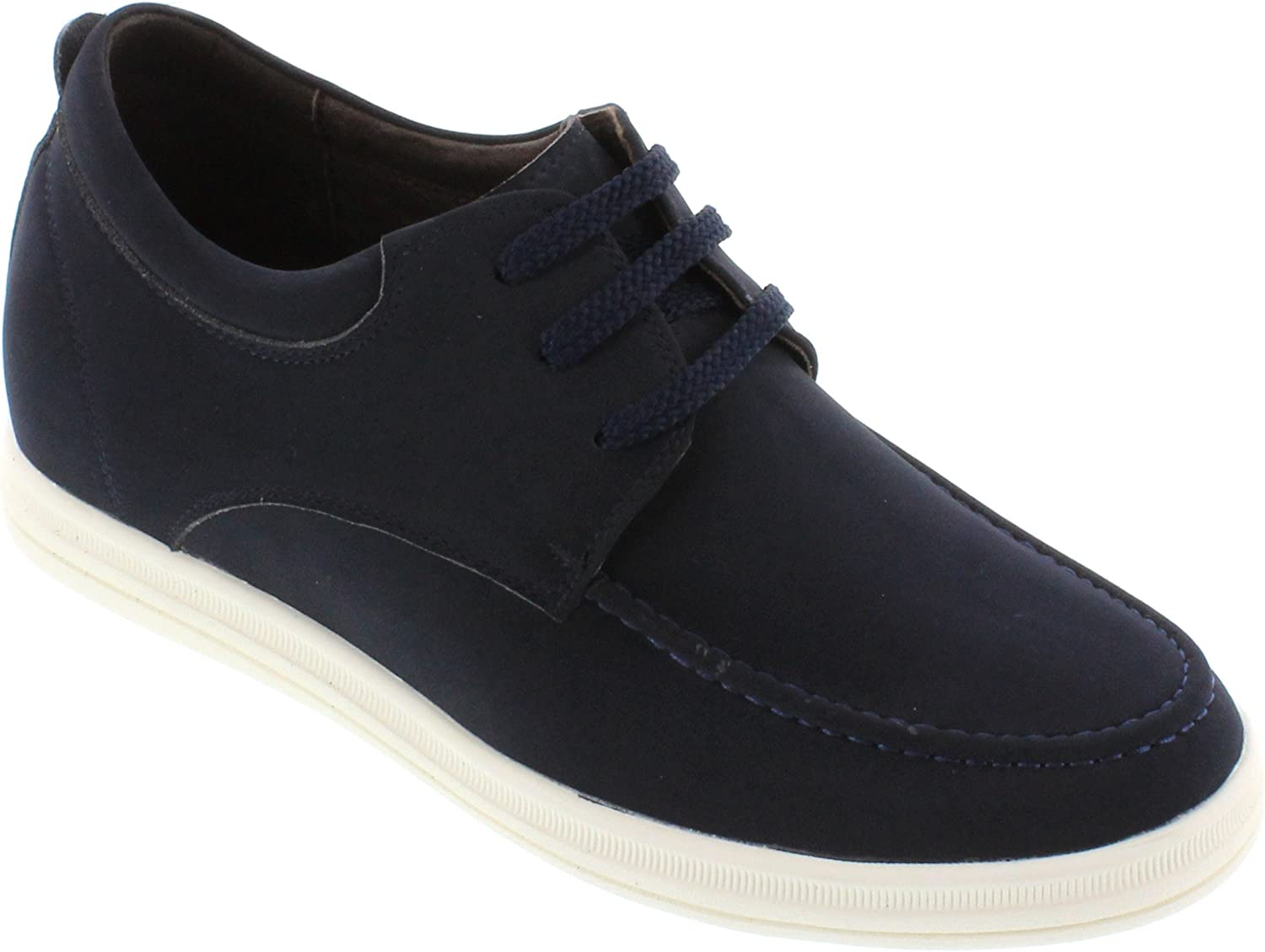 CALTO - G65182-2.6 Inches Taller - Size 11.5 D US - Height Increasing Elevator shoes - Navy bluee Lightweight