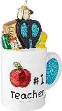 Old World Christmas 32318 Gifts Glass Blown Ornaments, Best Teacher Mug