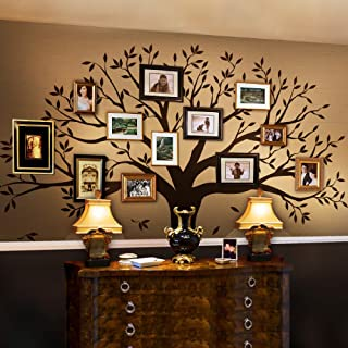 Simple Shapes Family Tree Wall Decal (Chestnut Brown, Standard Size: 107